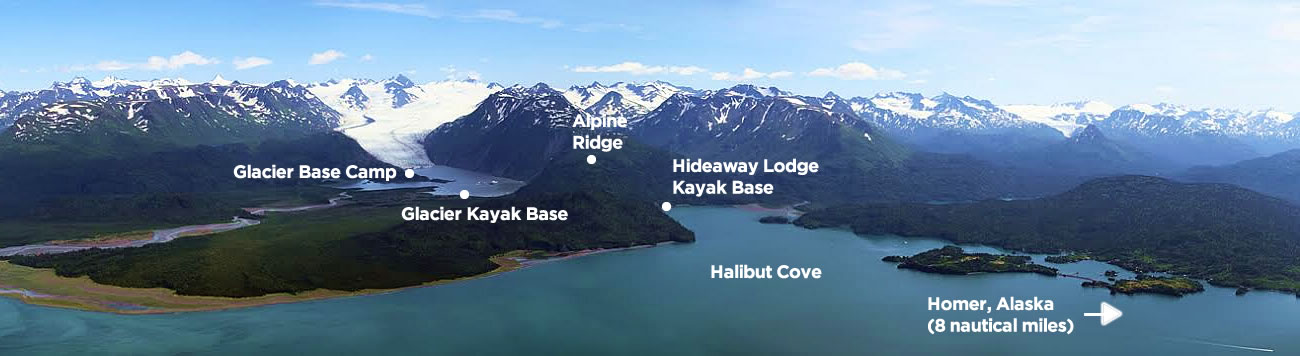 Guided kayaking in Kachemak Bay State Park, Homer, Alaska